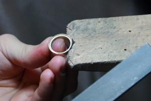 Schmieden eines Ringes